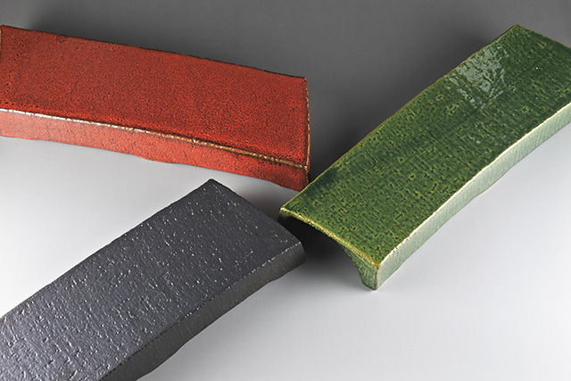 【美濃焼】刀型高台長皿 幅9cm×長さ28cm×高さ3.6cm