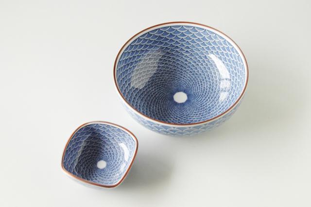 【有田焼】青海波刺身鉢