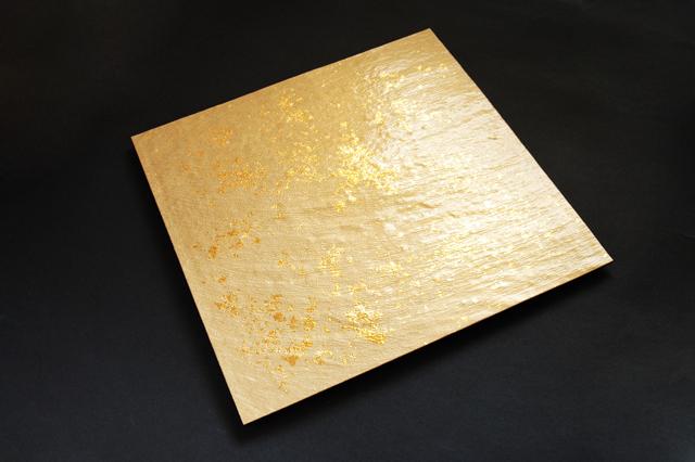 【割れにくい】ABS樹脂製 色紙金箔スクエアプレート