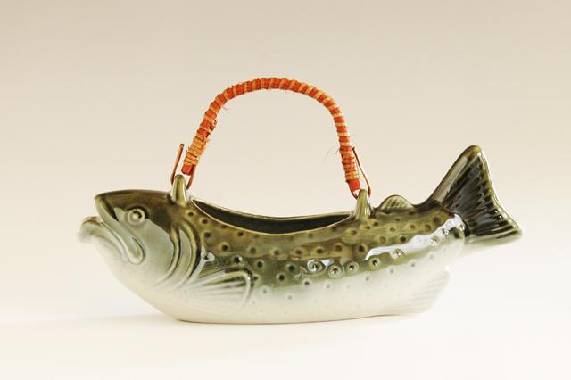 魚型の骨酒用酒器