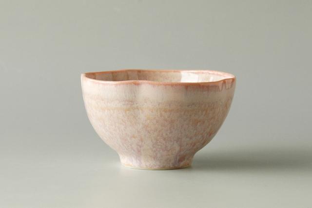 【和え物・ごはんにも】ピンク流し花型小鉢