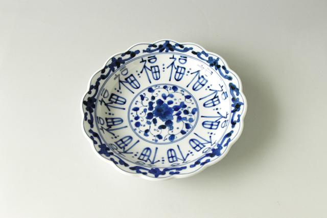【美濃焼】福づくし花割19cm皿