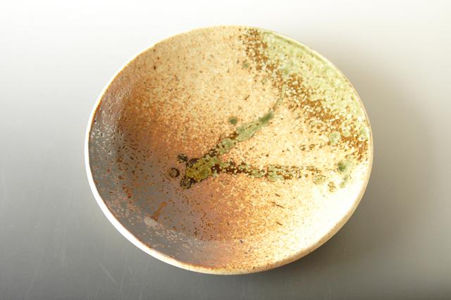 【美濃焼】信楽風8寸丸皿 直径24.3cm×高さ3.7cm