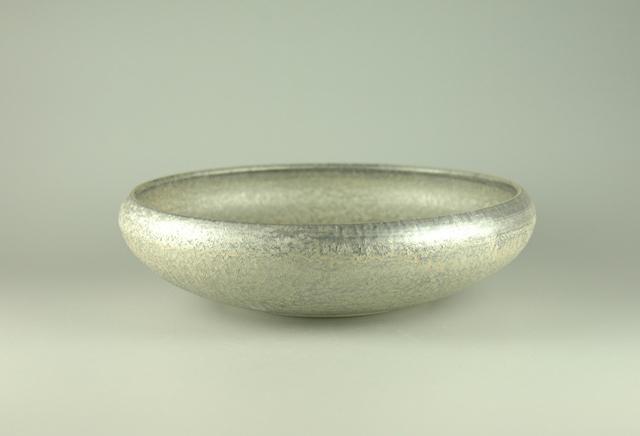 【有田焼】悦山窯 晶銀6.0鉄鉢 直径18.8cm×高さ5cm