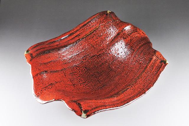 【美濃焼】紅天目変型盛鉢 サラダに煮物、刺身などに