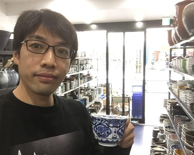 おすすめ!染付のコーヒーカップソーサー