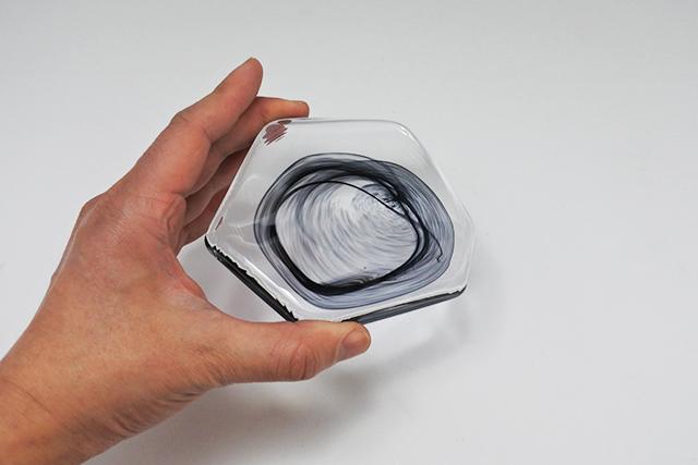【冷菓・珍味に】フラットなガラスの銘々皿