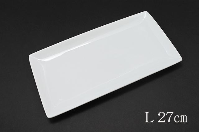 ホッケやサンマにシンプルな白い長角皿