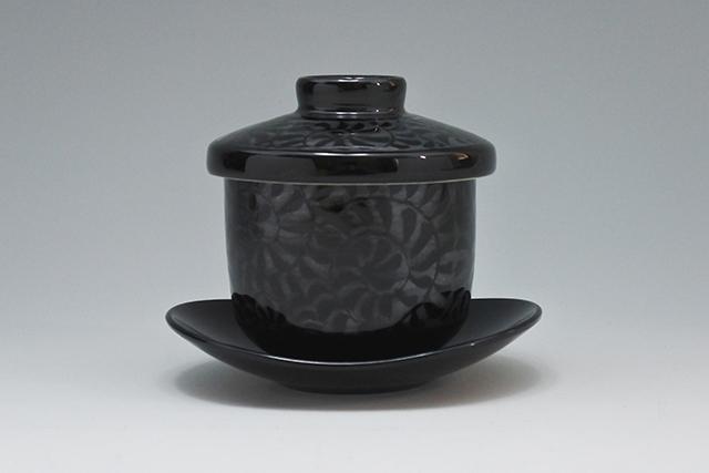 【再入荷!】黒唐草茶碗むし