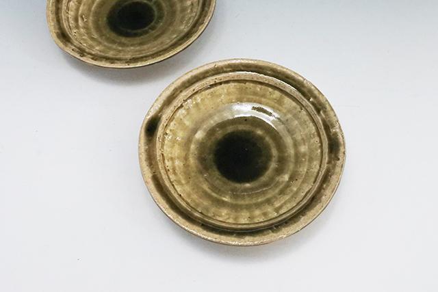 お造り、焼き物、揚げ物に【兵山窯 灰釉6寸浅鉢】