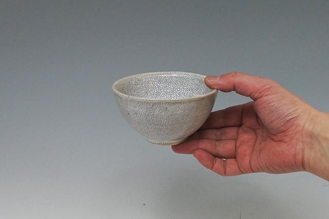 和食器 かっぱ橋まえ田 兵山窯の梅花皮(かいらぎ)ごはん茶碗