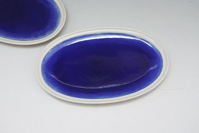 楕円皿はテーブルのスペースを取らない!【夜空 オーバル皿】