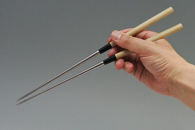 和食器 かっぱ橋まえ田 刺身・和食の盛り付けに【MAX ステンレス 盛箸】