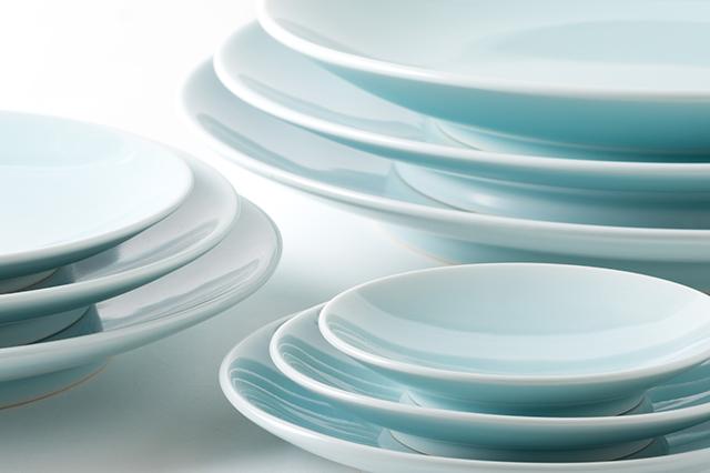 青白磁丸皿